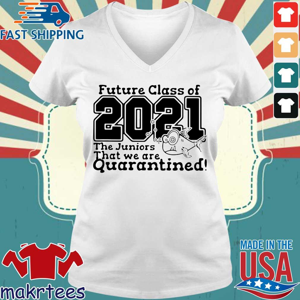 Pre Kindergarten Class Of 2021 Fish Digital Cutting File Prek Quarantine Shirt Ladies V-neck trang