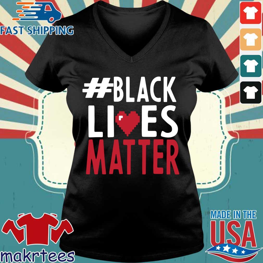 #black Lives Matter Love Shirt Ladies V-neck den