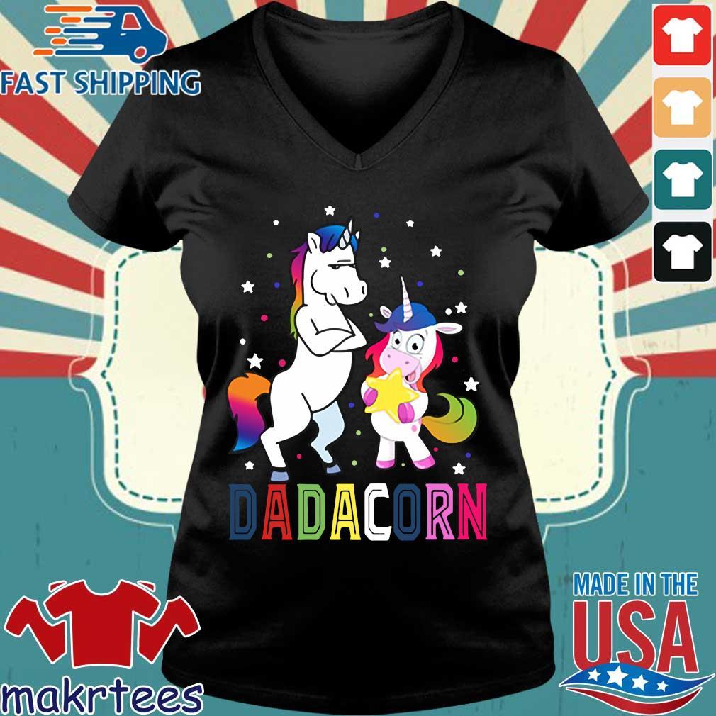 Unicorns Dadacorn 2020 Shirt Ladies V-neck den