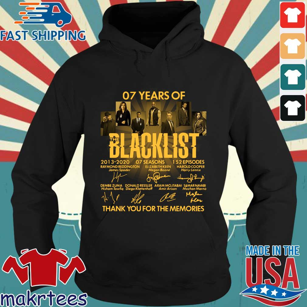 07 Of Years Of Blacklist Signatures Thank You For The Memories Shirt Hoodie den