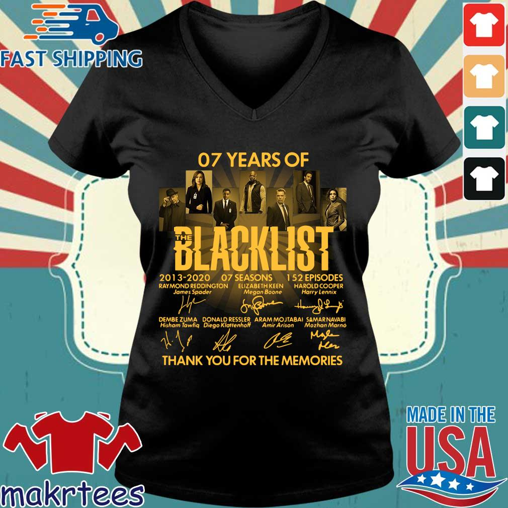07 Of Years Of Blacklist Signatures Thank You For The Memories Shirt Ladies V-neck den