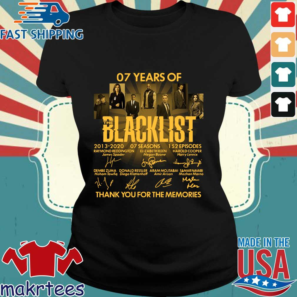 07 Of Years Of Blacklist Signatures Thank You For The Memories Shirt Ladies den