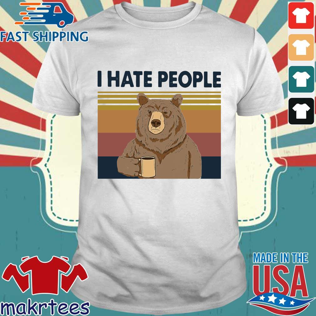 Bear Thats Tees What I Do Coffee Hate People Knnow Things T-shirt vintage pour femme et homme