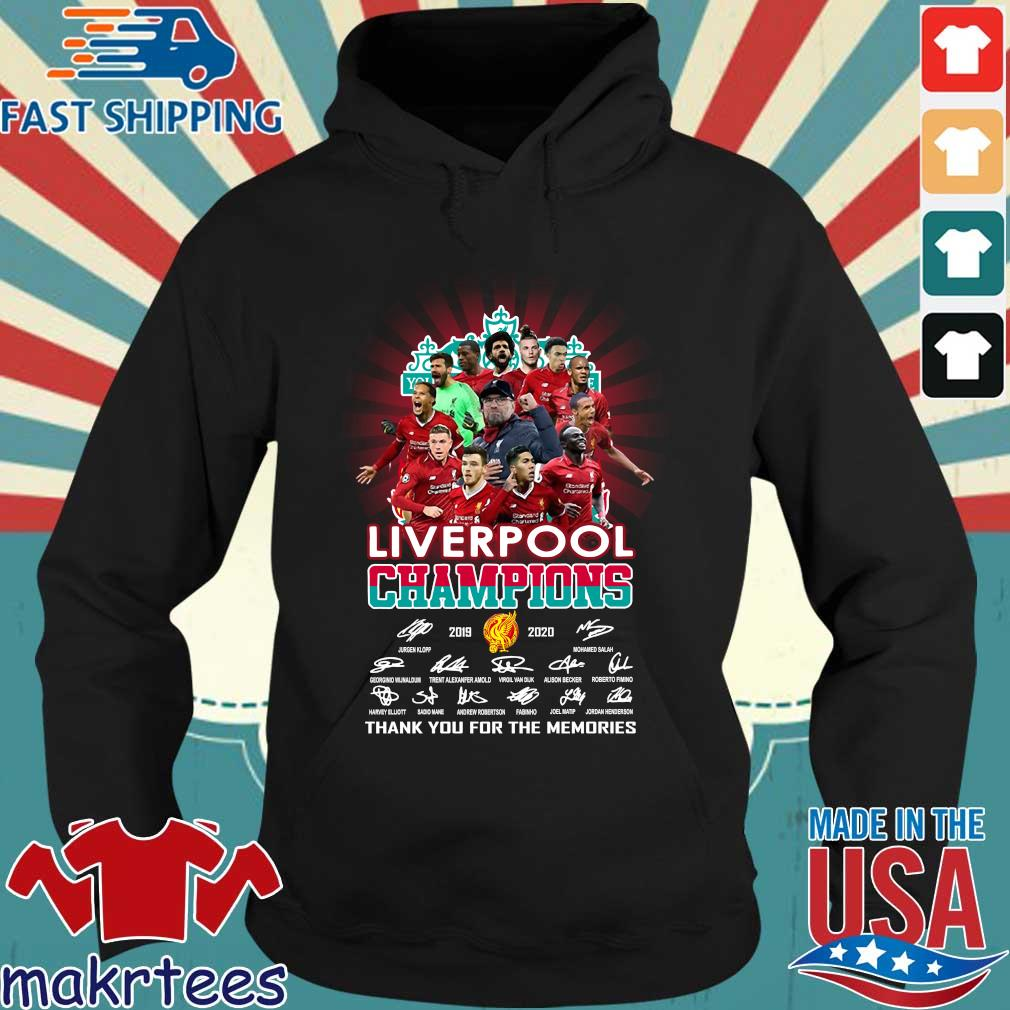 Liverpool Champions 2019 2020 Thank You For The Memories Signature Shirt Hoodie den