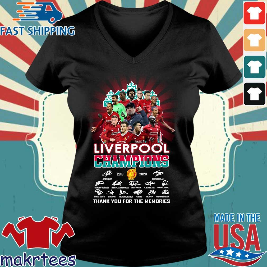 Liverpool Champions 2019 2020 Thank You For The Memories Signature Shirt Ladies V-neck den