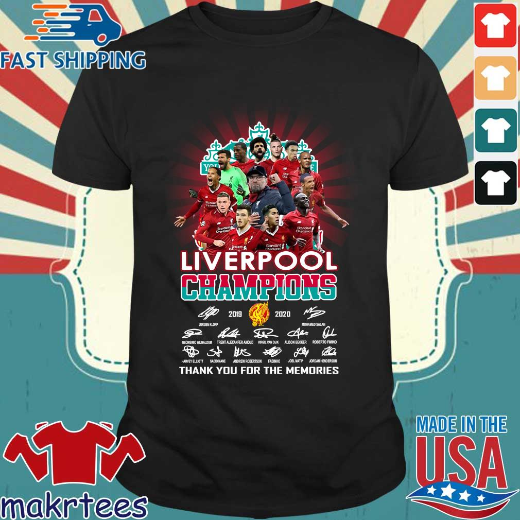 Liverpool Champions 2019 2020 Thank You For The Memories Signature Shirt