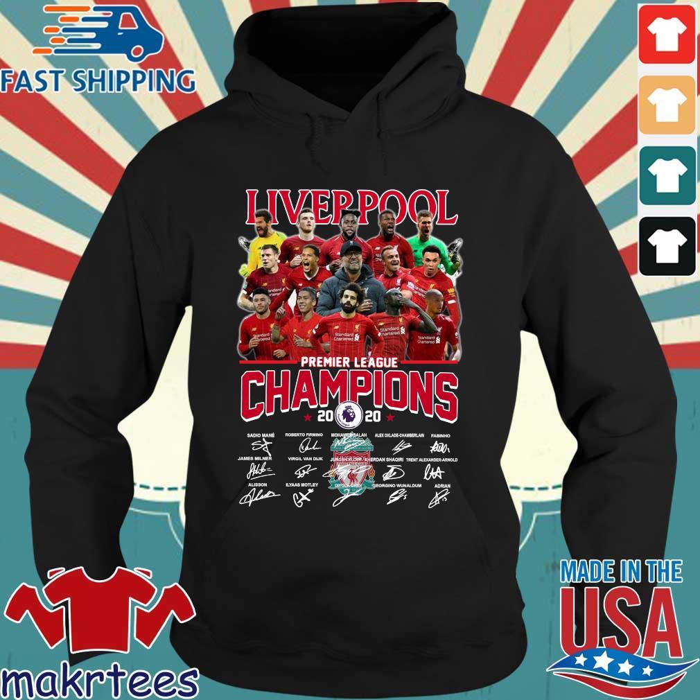 Liverpool Fc Premier League Champions 2020 Signature Shirt Hoodie den