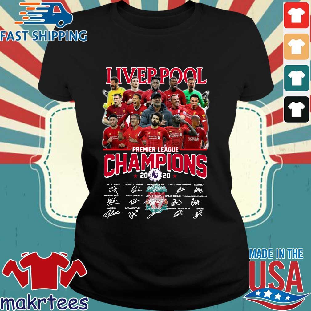 Liverpool Fc Premier League Champions 2020 Signature Shirt Ladies den