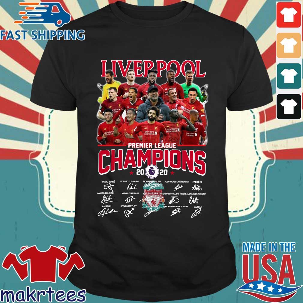Liverpool Fc Premier League Champions 2020 Signature Shirt