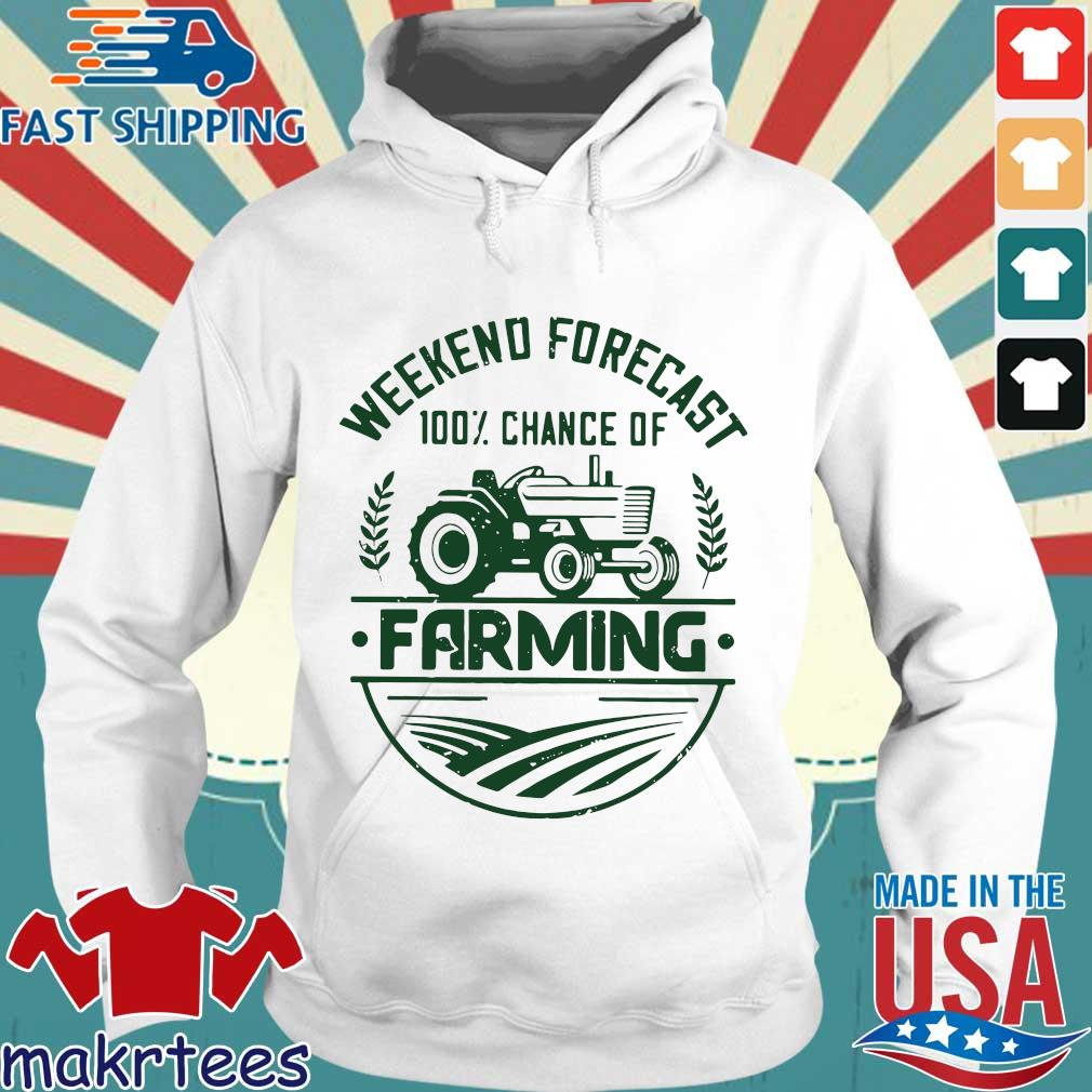 Weekend Forecast 100 Percent Chance Of Farming Shirt Hoodie trang