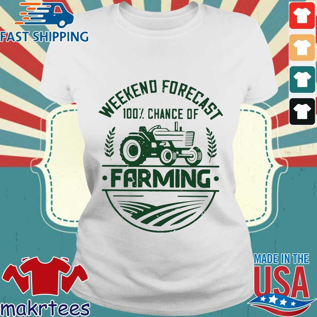 Weekend Forecast 100 Percent Chance Of Farming Shirt Ladies trang