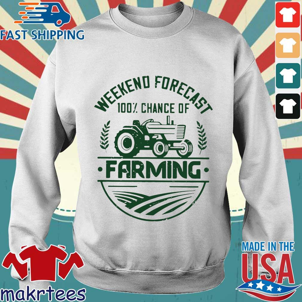 Weekend Forecast 100 Percent Chance Of Farming Shirt Sweater trang