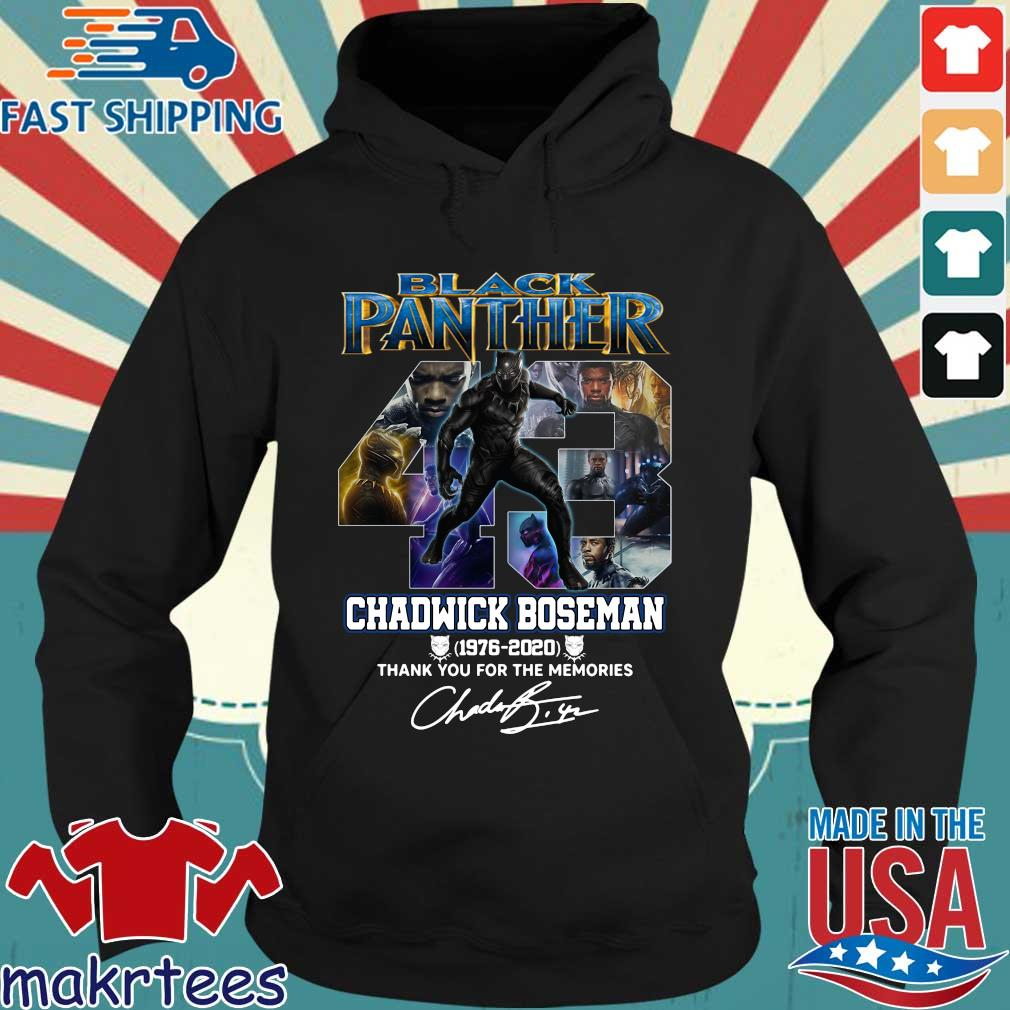 43 Black Panther Chadwick Boseman 1976 2020 Thank you for the memories signature s Hoodie den