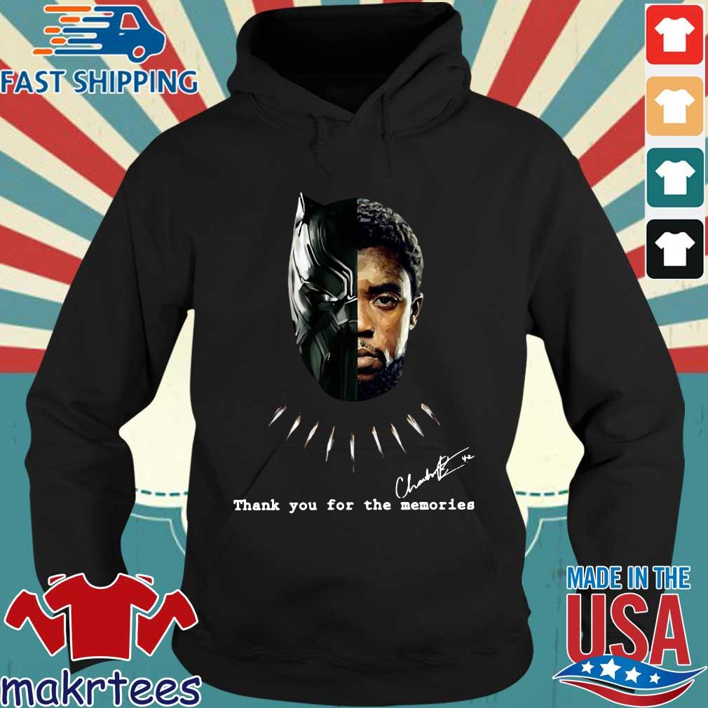 Chadwick Boseman Black Panther signature thank you for the memories s Hoodie den