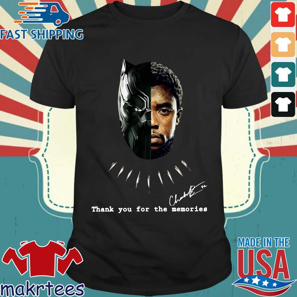 Chadwick Boseman Black Panther signature thank you for the memories shirt
