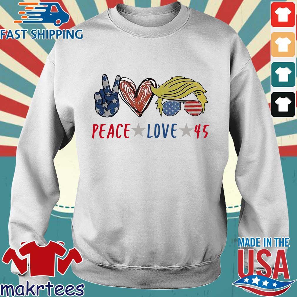 Peace love 45 Donald Trump s Sweater trang