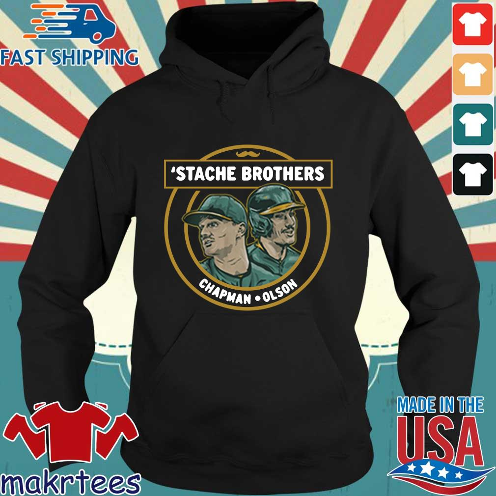 'Stache brothers matt chapman and matt Olson Oakland s Hoodie den