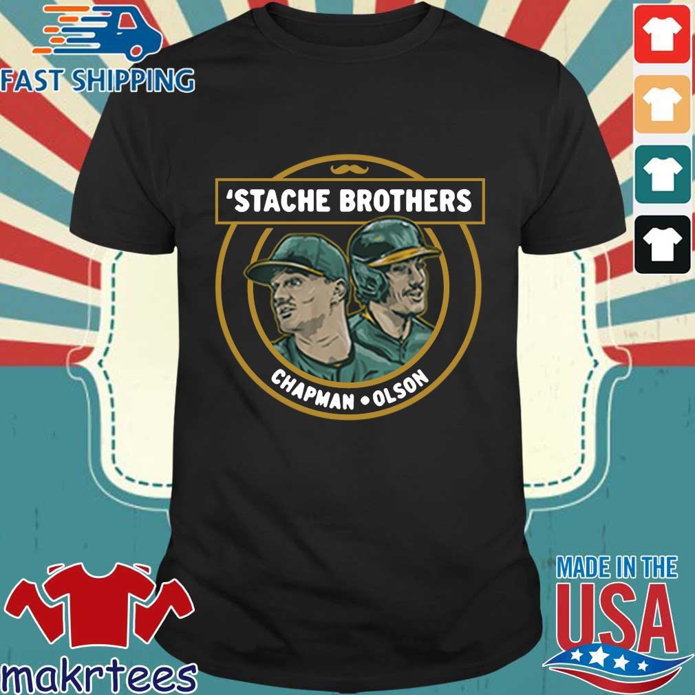 'Stache brothers matt chapman and matt Olson Oakland shirt