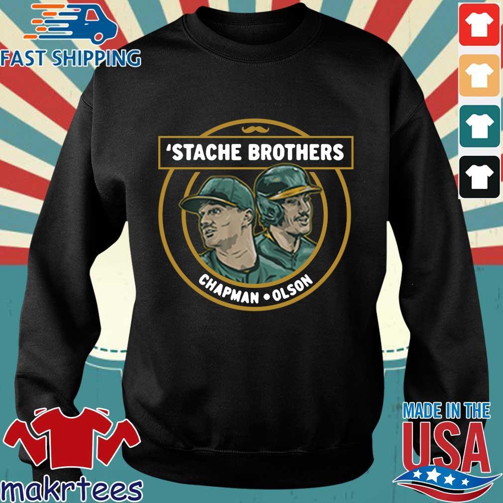 'Stache brothers matt chapman and matt Olson Oakland s Sweater den