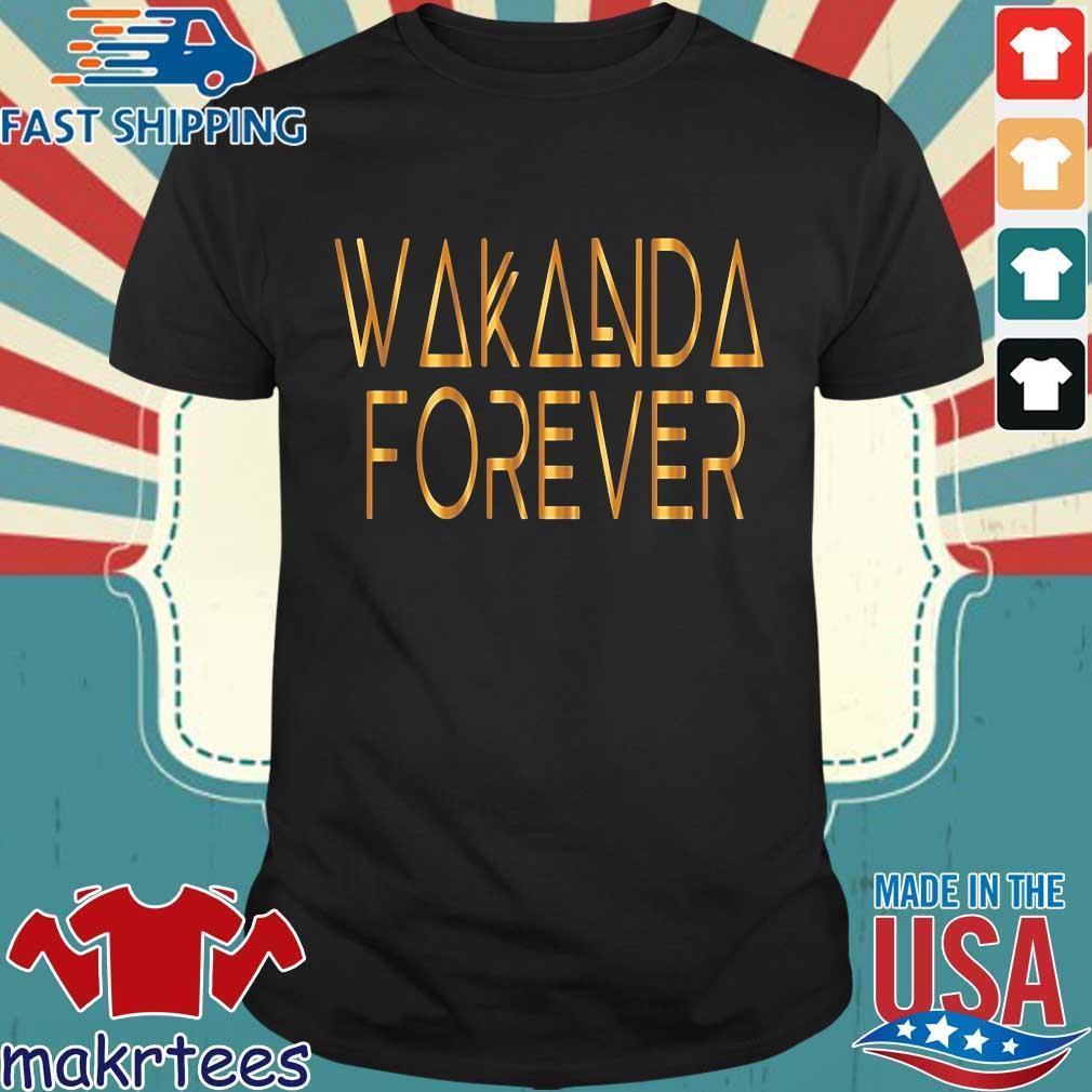 Wakanda forever gold shirt