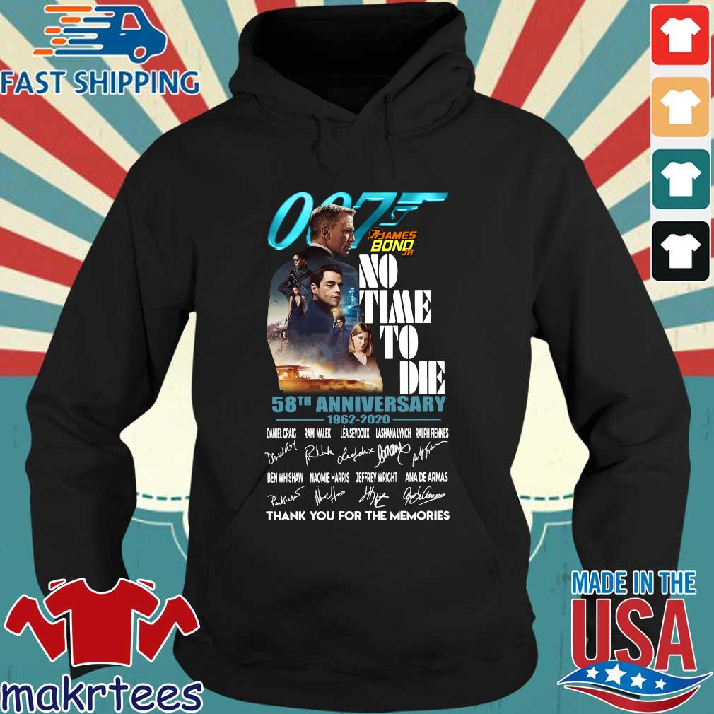 007 James Bond no time to die 58th anniversary 1962 2020 thank you for the memories signatures s Hoodie den