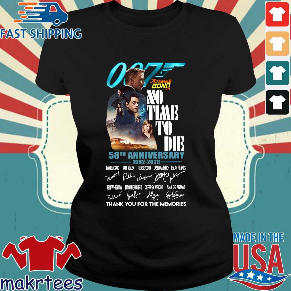 007 James Bond no time to die 58th anniversary 1962 2020 thank you for the memories signatures s Ladies den
