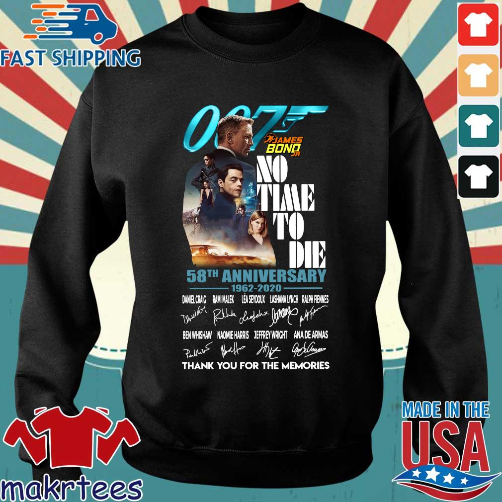 007 James Bond no time to die 58th anniversary 1962 2020 thank you for the memories signatures s Sweater den