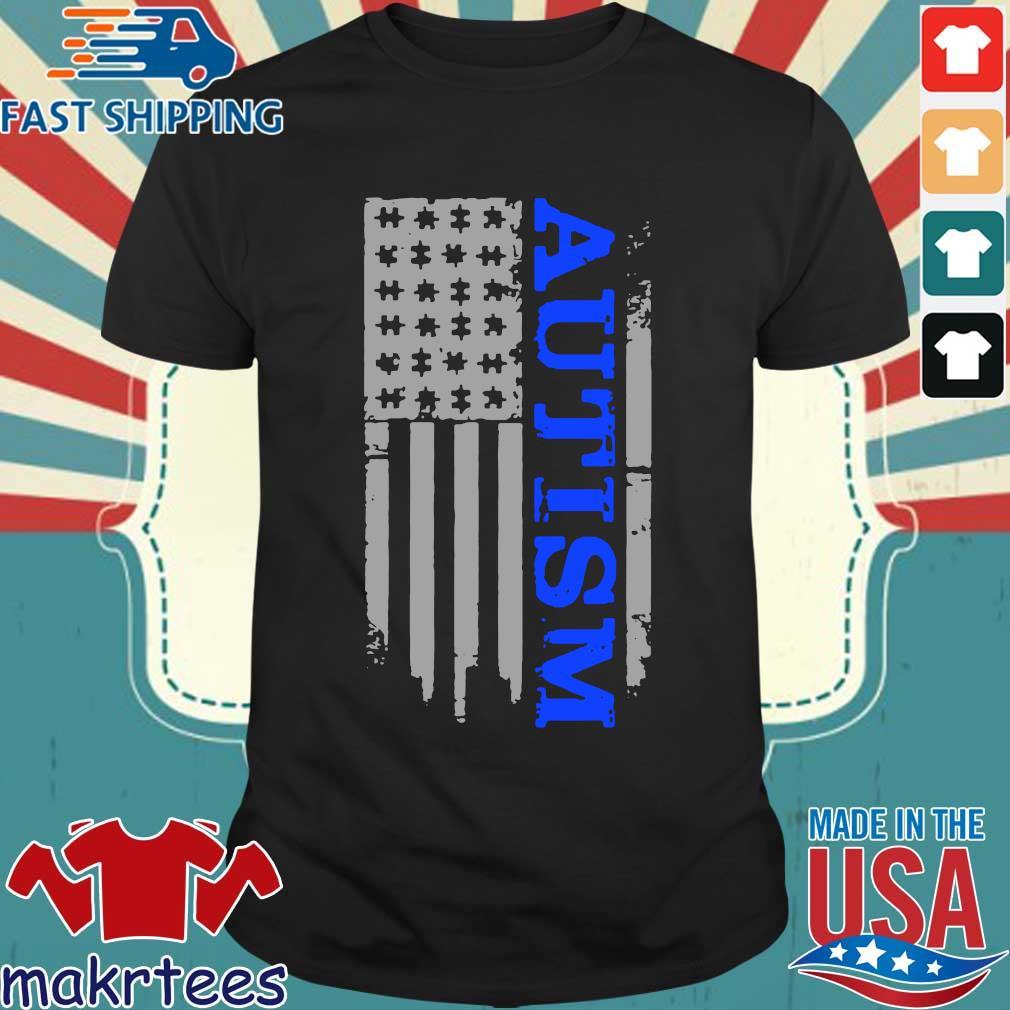 Autism Awareness American flag shirt