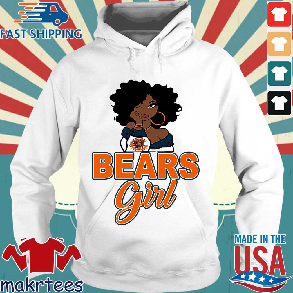 Chicago bears black girl s Hoodie trang