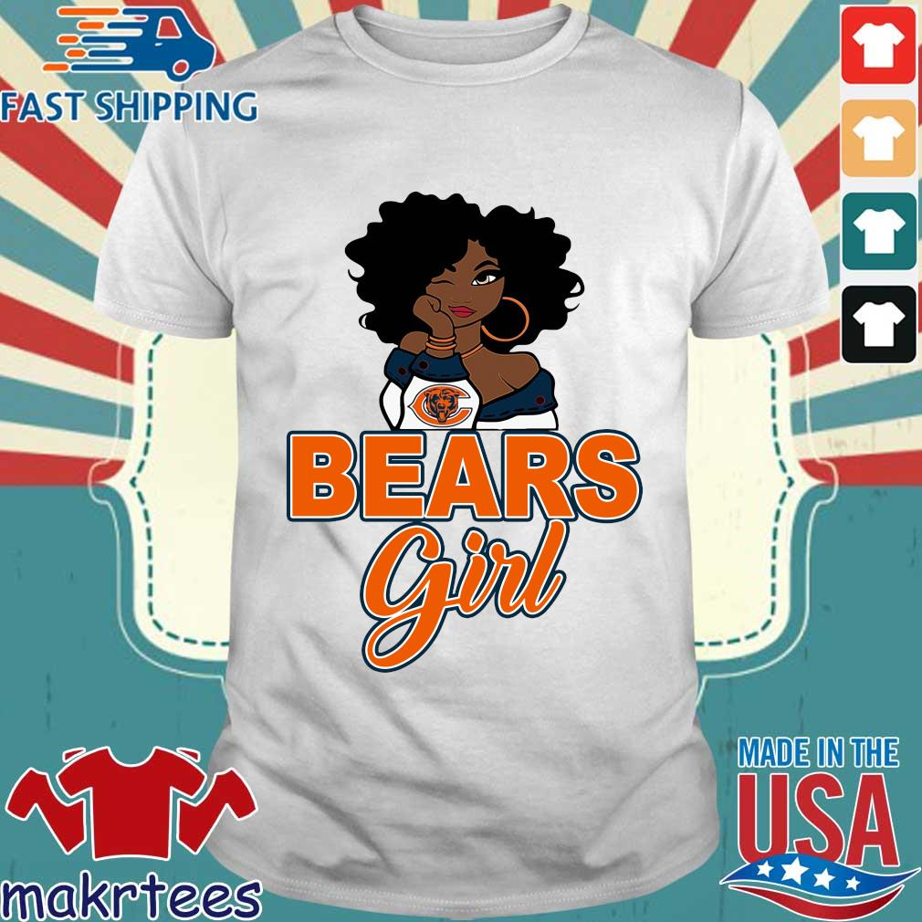 Chicago bears black girl shirt