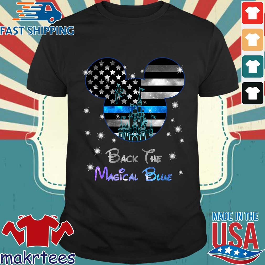Disney Mickey Mouse back the magical blue shirt