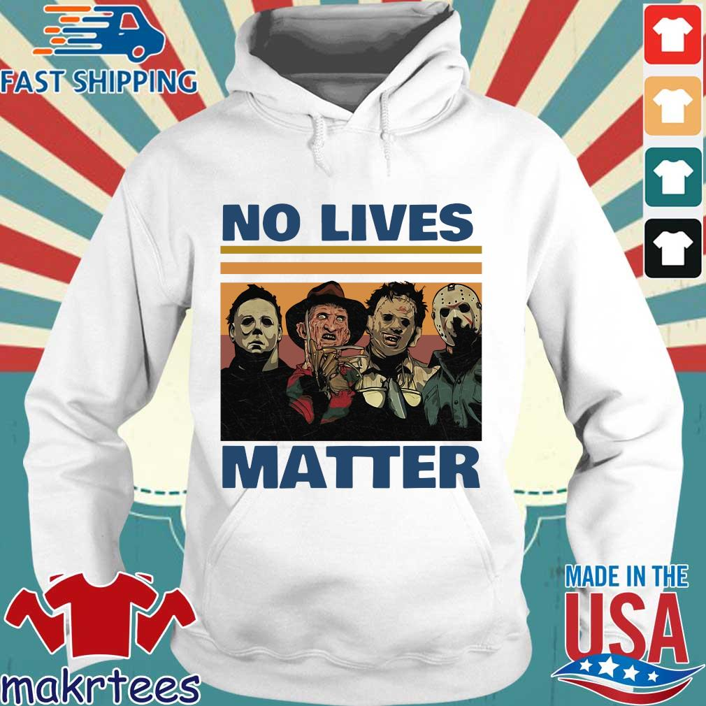 Horror character no lives matter Halloween vintage s Hoodie trang