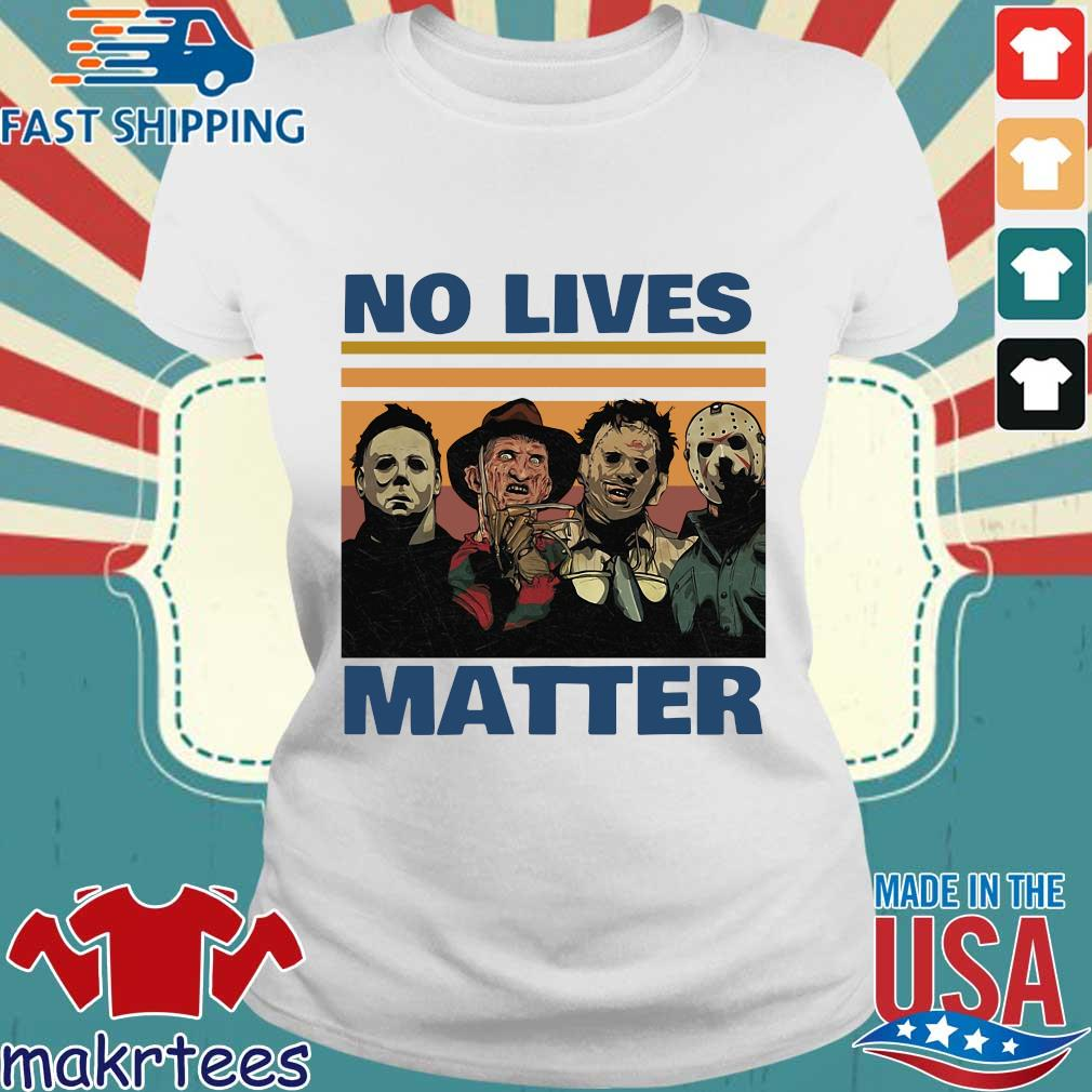 Horror character no lives matter Halloween vintage s Ladies trang