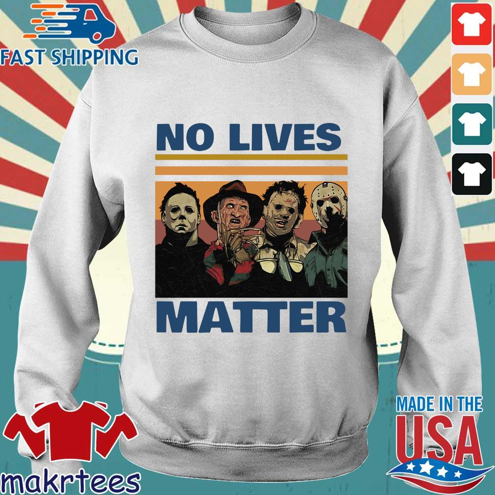 Horror character no lives matter Halloween vintage s Sweater trang
