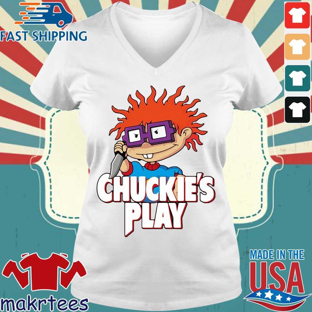 Rugrats Chuckie's play Halloween s Ladies V-neck trang