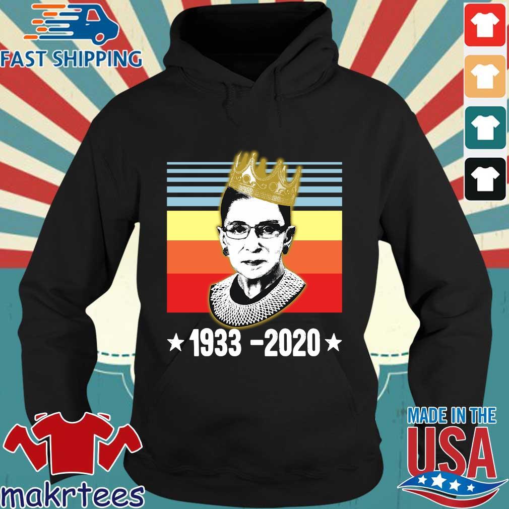 Ruth Bader Ginsburg 1933 2020 crown vintage s Hoodie den