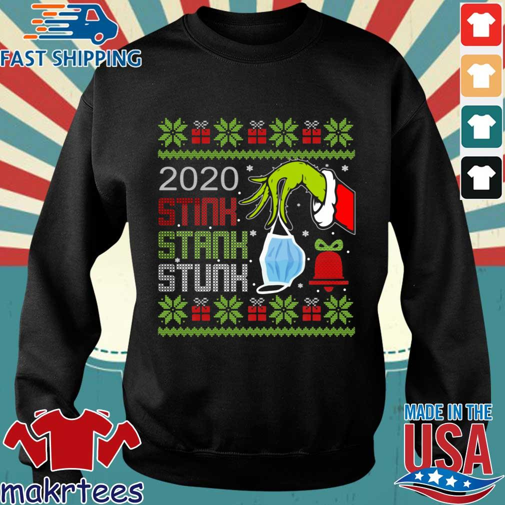 The Grinch hand holding mask 2020 stink stank stunk Ugly Christmas