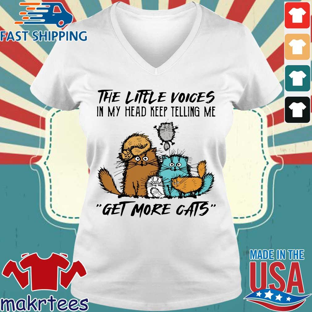 The little voices in my head keep telling Me get more cats s Ladies V-neck trang