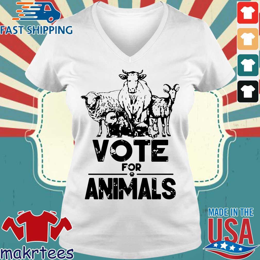 Vote for animals 2020 President s Ladies V-neck trang