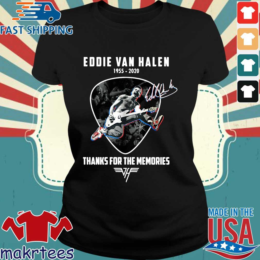 Eddie Van Halen playing Guitar 1955-2020 thanks for the memories signature s Ladies den
