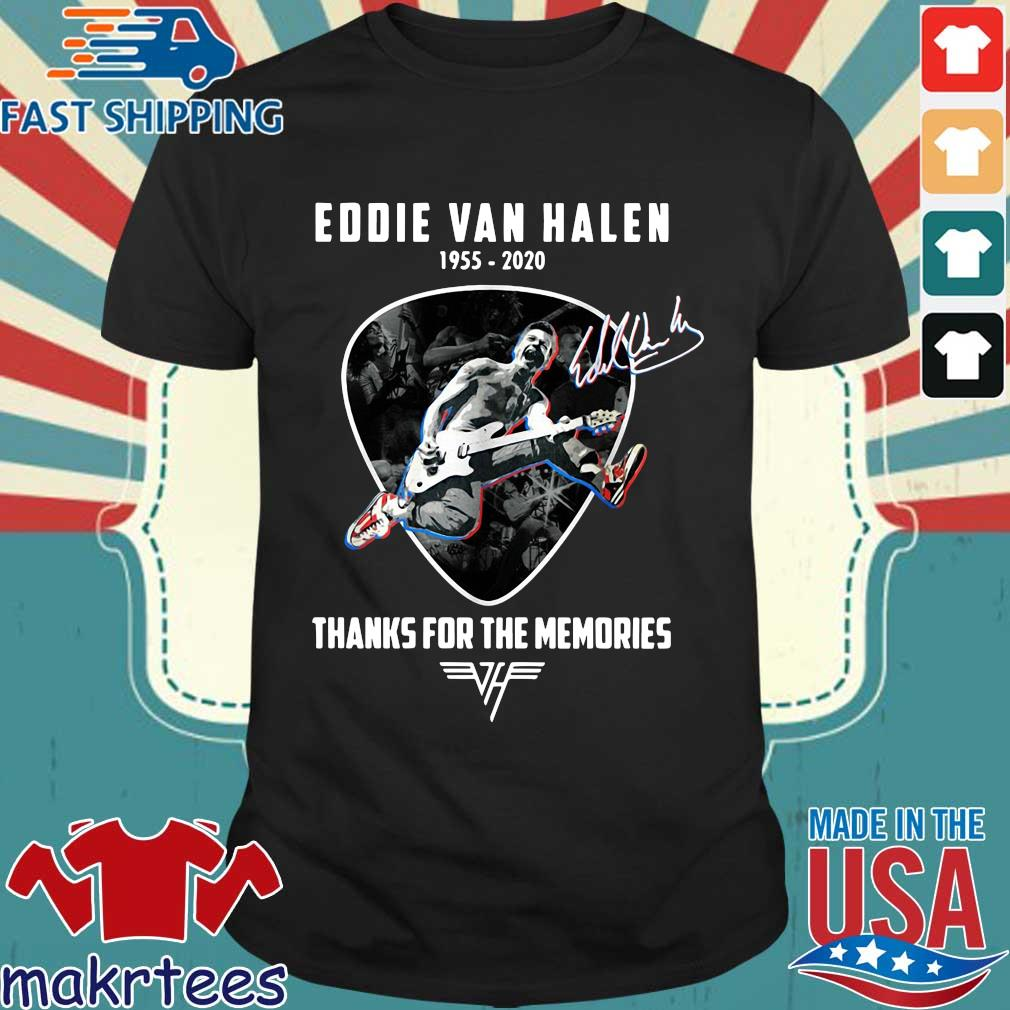 Eddie Van Halen playing Guitar 1955-2020 thanks for the memories signature s Shirt den
