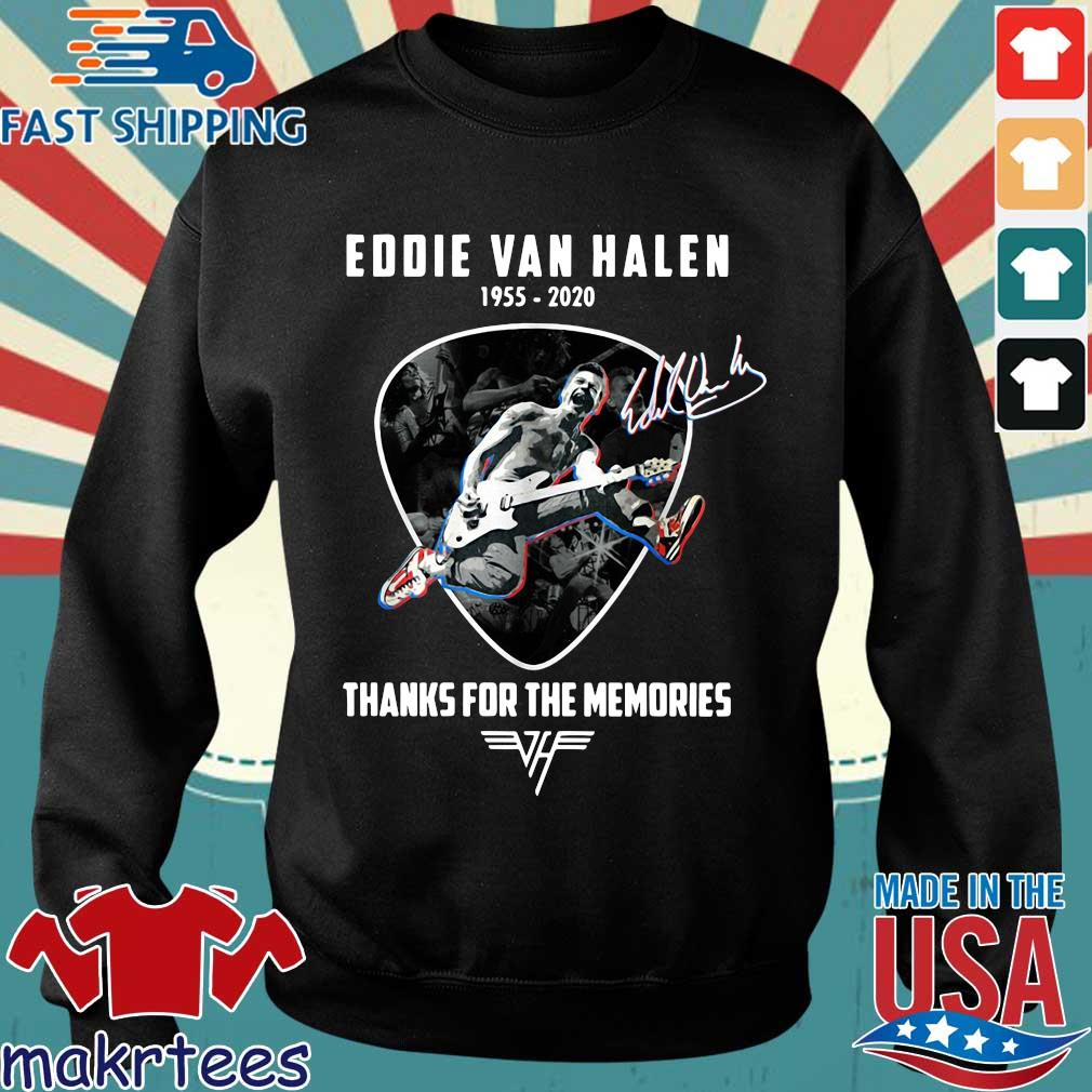 Eddie Van Halen playing Guitar 1955-2020 thanks for the memories signature shirt