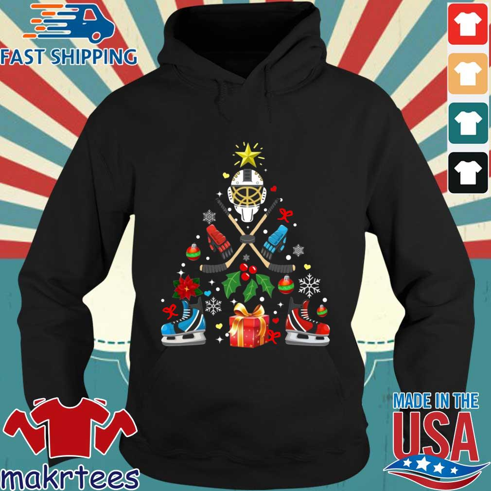 Hockey Christmas tree sweater Hoodie den