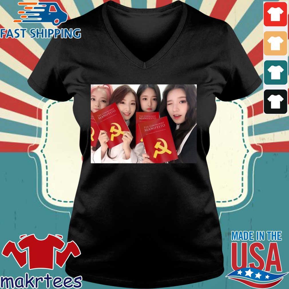 Loona The Communist Manifesto Shirt Ladies V-neck den