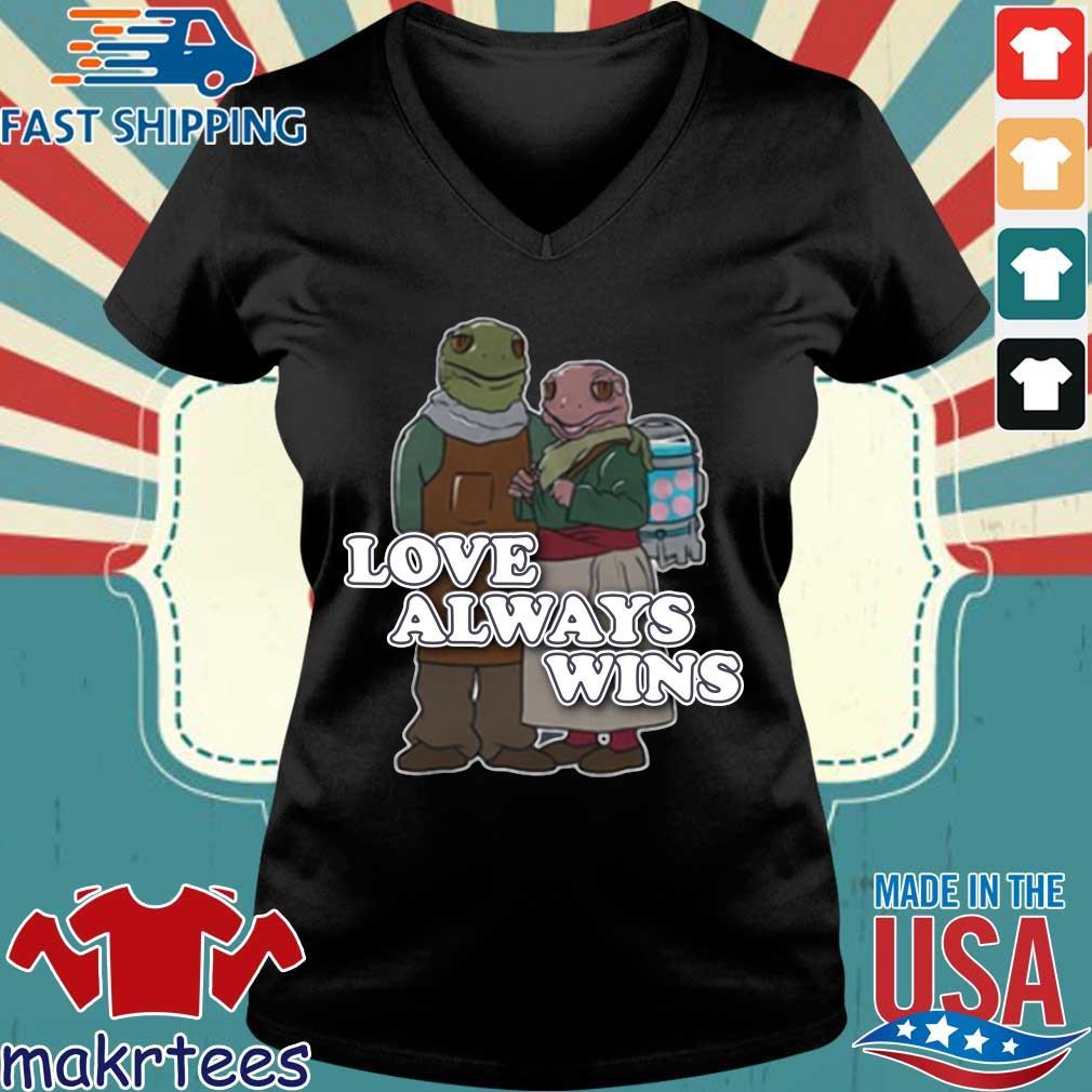 Love always wins s Ladies V-neck den