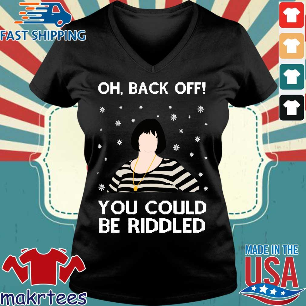 Nessa Oh Back Of You Could Riddled Christmas Sweater Ladies V-neck den