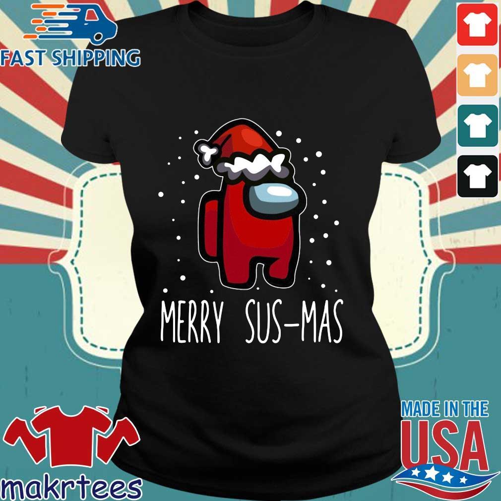 Santa Red Among Us Merry Sus-Mas Christmas sweater Ladies den