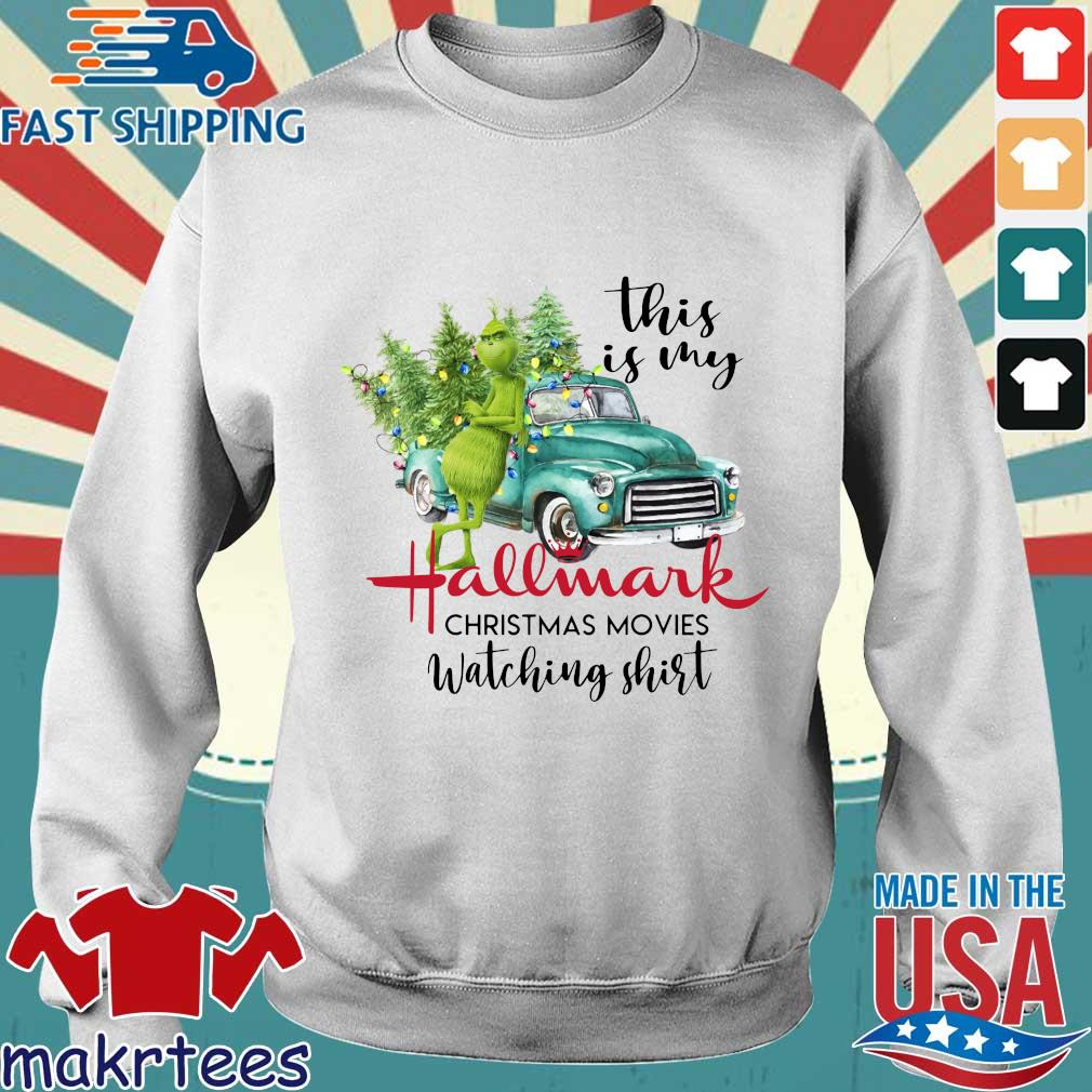 The Grinch this is my Hallmark Christmas movies watching shirt Christmas sweater