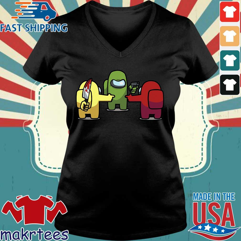 You is a Imposter Among Us Game Shirt Ladies V-neck den