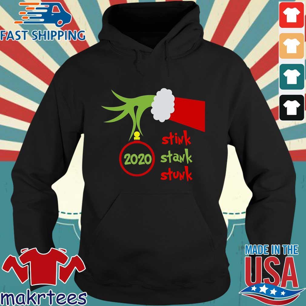 Hand Grinch stink stank stunk 2020 Christmas sweater Hoodie den